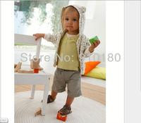 5 sets/lot baby boys casual clothing set,Short Sleeves T shirt+Short pants 2pcs set kids summer tracksuits