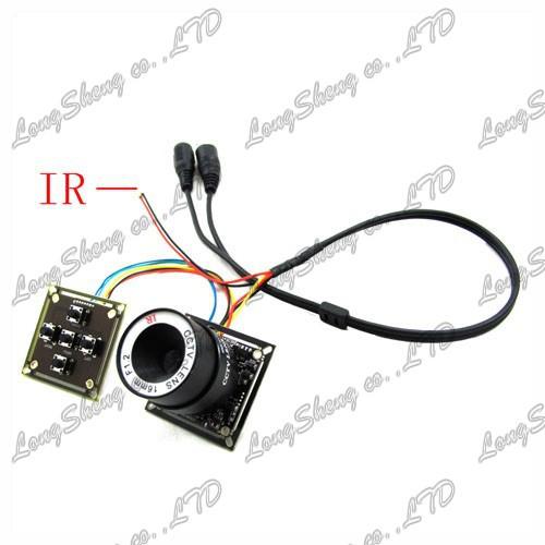Mini Super HAD Sony CCD PCB Camera 600TVL 6mm CS Lens OSD CCTV camera(China (Mainland))