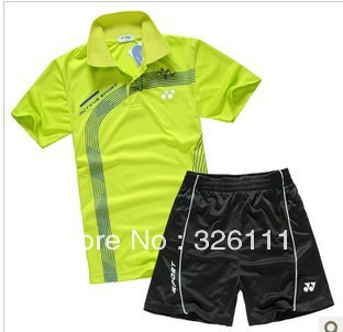Free shipping Special badminton clothes table tennis service men and women sports suit lovers jersey shirt quick-drying fabric