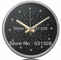 Free shipping The luxury flash drill baby's breath Wall Clock Shilaiyunzhuan ultra-quiet watch Creative fashion F184