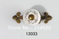 New design antique brass and ceramic door handles kitchen handles knobs wardrobe handles closet knob cabinet pulls classic 13033