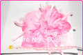 "baby pink Peony flower heads hot selling wholesale beautiful big 7"" fabric flower with pear head flower accessories 50pcs/lot"