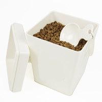 Super sealed grain storage bucket dog food victualling bucket pet grain storage bucket melamine commissariat square bucket