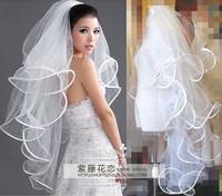 Fashion style bridal veil multi-layer married long veil wedding dress veil