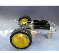 Free shipping,Smart Robot Car Chassis Kits with Speed Encoder Battery Box