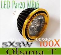 High Power 100XPar20 Led Lamp MR16 E14 GU10 E27 Dimmable 5X3W 15W  4x3W 12W Spotlight Led Light Led Bulbs 12V Energy Saving