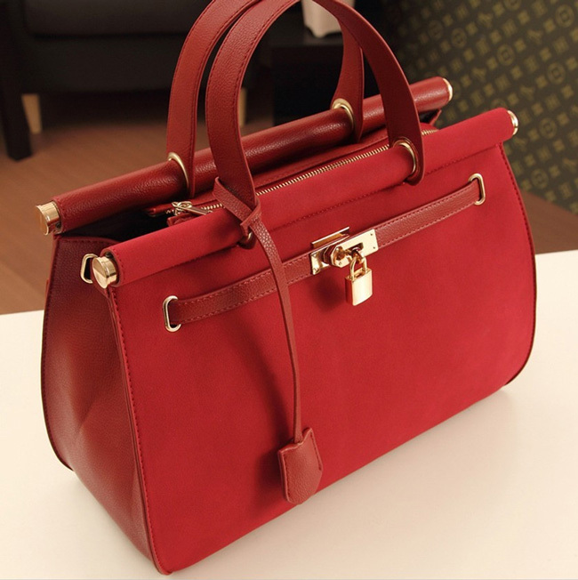 Lock Zipper Womens PU Leather Handbag Lady Hobo Tote Shoulder Bags Free Shipping(China (Mainland))
