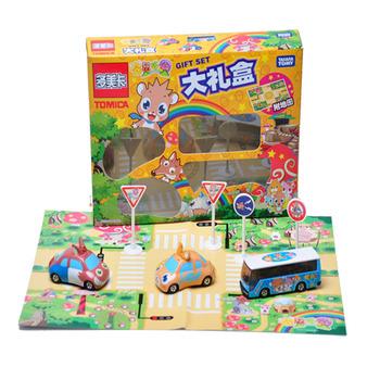 Dume tomy card car hamster alloy car models gift box 3 toy car map 25