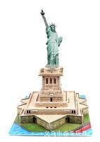 ZILIPOO 3D Puzzle Building Model PUZ Toy/The Statue of Liberty, Children's Safe Non-toxic Foam+Paper Model DIY Jigsaw 409