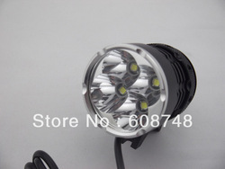 6000Lm 4x CREE XM-L T6 LED Bicycle bike Rechargeable HeadLight Headlamp Light Free shipping(China (Mainland))