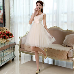 Formal short design 2013 wedding formal bridesmaid princess suspender xlf218(China (Mainland))