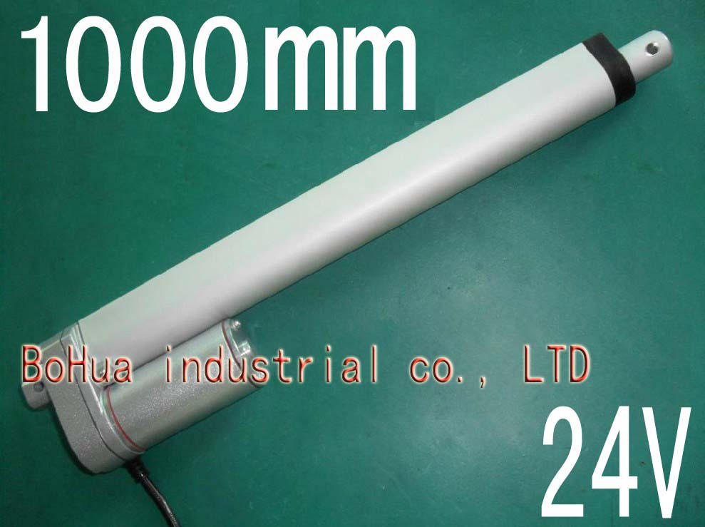 hot 24V micro linear actuator, 1000mm stroke electric linear actuator, thrust 900N, Customized stroke(China (Mainland))