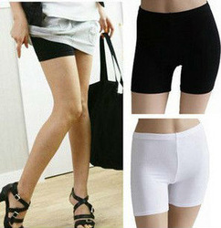 2pcs/lot Trend women exposed security pants/Safety Pants,Cool Ice silk flat leggings,lady boxer brief,render pants,short Tights(China (Mainland))