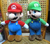 "Super Mario Mario and Luigi brothers 2pc plush toy DOLL 9.8"" HIGH NEW"