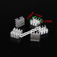 200PCS Aluminum MOS Mini IC Chipset Cooling Cooler  Heatsink