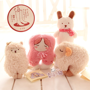 Health preserving hall sheep camel doll rabbit plush toy doll pendant footwear small clip