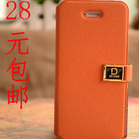 For apple    for iphone   2013 5 shell phone case apple sets iphone5 card orange