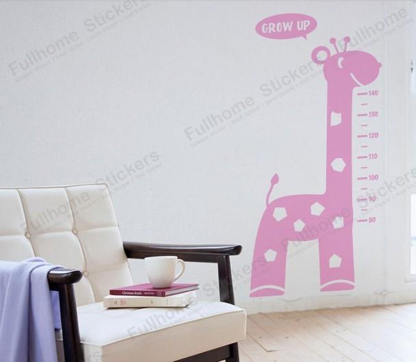 Giraffe c hoogte stok kinderkamer decoratie diy cartoon stickers slaapkamer bescherming van het - Decoratie slaapkamer autos ...