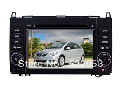 Car DVD For Benz B200 7&quot; Inch 800x480 Touch Screen with GPS Radio Video Bluetooth Careland newest Map(China (Mainland))