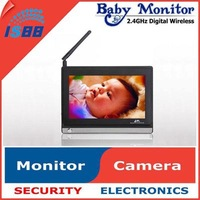 "1pcs/Lot 2.4GHz 7"" Wireless Video Receiver Screen For Video Baby Monitor & 7 inch Wireless Receiver Monitor  Black"