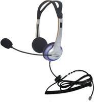 Binaural RJ11 telephone headset with MIC for call center & office  telephone For AVAYA