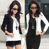 Short jacket spring and summer women's small cardigan rhinestones casual summer long-sleeve short jacket coat
