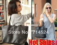 FREE SHIPPING ! 2013 Hot  Fashiong Woman Knitting Pattern PU Leather Shoulder Handbag , 10+ Colors ,retail & wholesale