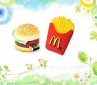 Free Shipping Cute French Fries Shape USB 2.0 Flash Memory Stick Drive 4GB 8GB 16GB 32GB