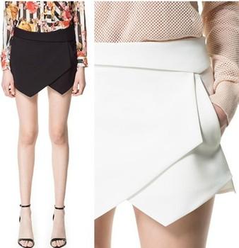 Fashion brand trend of irregular stromatolith mini shorts culottes skirt for women's female 2013 Drop shipping high skater waist