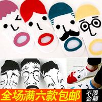 20pieces=10pairs=1 LOT free shipping fashion Lovers socks unisex cartoon socks invisible sock slippers 100% cotton floor socks