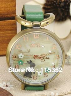2013 hot selling products newly style original mini watch korea polymer clay watch long leather strap watch lady's quartz watch(China (Mainland))