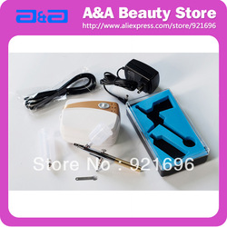 Portable Airbrush Makeup Set , Body Paint, Facial Makeup Oilless,Silent CE, GS, UL certificated!(China (Mainland))