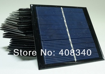 Wholesale! 1W 6V Polycrystalline Solar Cell Solar Panel Solar Cells DIY Solar System Solar Module 10pcs/lot  Free shipping