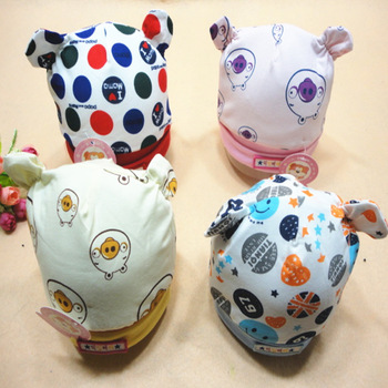 Supply of cotton cloth cap double ear of three-dimensional cartoon animal baby children hat