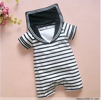 Retail 1 pcs/lot,baby romper /wear navy suit / Sailor Romper, infant garment,0.2 kg