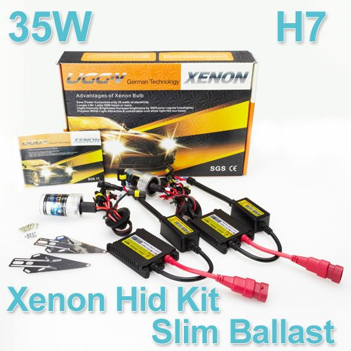 Fedex Free Shipping Wholesale Xenon HID Kit Car Headlight Slim Ballast 35W H7 Xenon Bulb 4300K 6000K 8000K 10000K 12000K 12V(China (Mainland))