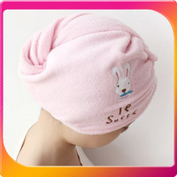 (Free shipping CPAM)10PCS/LOT Microfiber Magic Hair Dry Drying Turban Wrap Towel/Hat/Cap Quick Dry Dryer Bath H-121A
