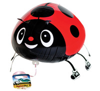20 PCS animal RED Lady Beetle walking pet Helium balloons Kids birthday party supplies Inflatable toys gifts for children