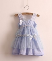 2013 summer printing lace ball grown girl's dress 5pcs/lot  90 100 110 1200 13cm children dress