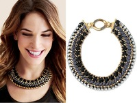 free shipping 2013 new design fashion handmade bib necklace statement for women size 40cm*3.6cm
