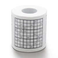 Free Shipping 6 pieces Sudoku Toilet Roll - Sudoku Bill Toilet Paper Novelty Toilet Roll 14new arrival bathroom tissue top good