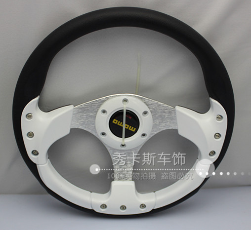 Freeshipping Momo automobile race steering wheel PU sport steering wheel modified steering wheel 13(China (Mainland))