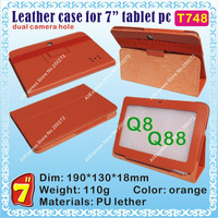 "[T748] Q88,Q8 (CPU/Allwinner A13) Hard case for 7"" tablet PC; dual camera hole"
