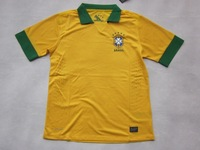 13-14 Brazil home thai quality football jersey+Free shipping