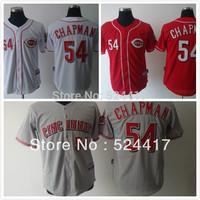 Free Shipping Cincinnati Reds #54 Aroldis Chapman Cool Base Jersey , 2013 Baseball Jersey For Men
