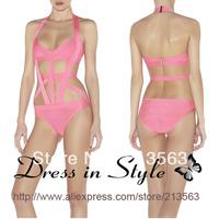 2013 Free Shipping Sexy Hot Summer Bandage H L Bikini Monokini Beachwear Swimwear Swimsuit Women Lady BodyCon DS926