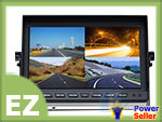 "10 Inch 10"" 4 CH 4CH Camera Video Quad Processor TFT LCD Color Monitor, Audio Car Rear View LCD + Register Mail Service"