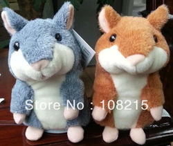 Free Shipping 1 PCS Pet Talking Hamster and moving Hamster talking Toy repeat any language russian(China (Mainland))