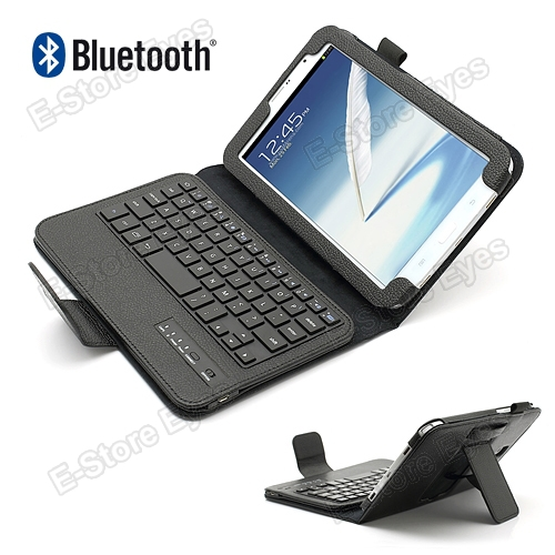 Wireless Bluetooth Keyboard PU Leather Skin Stand Case Cover Protector for Samsung Galaxy Note 8.0 N5100 N5110 free shipping(China (Mainland))