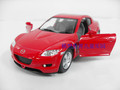Artificial car model toy kt MAZDA rx8 red